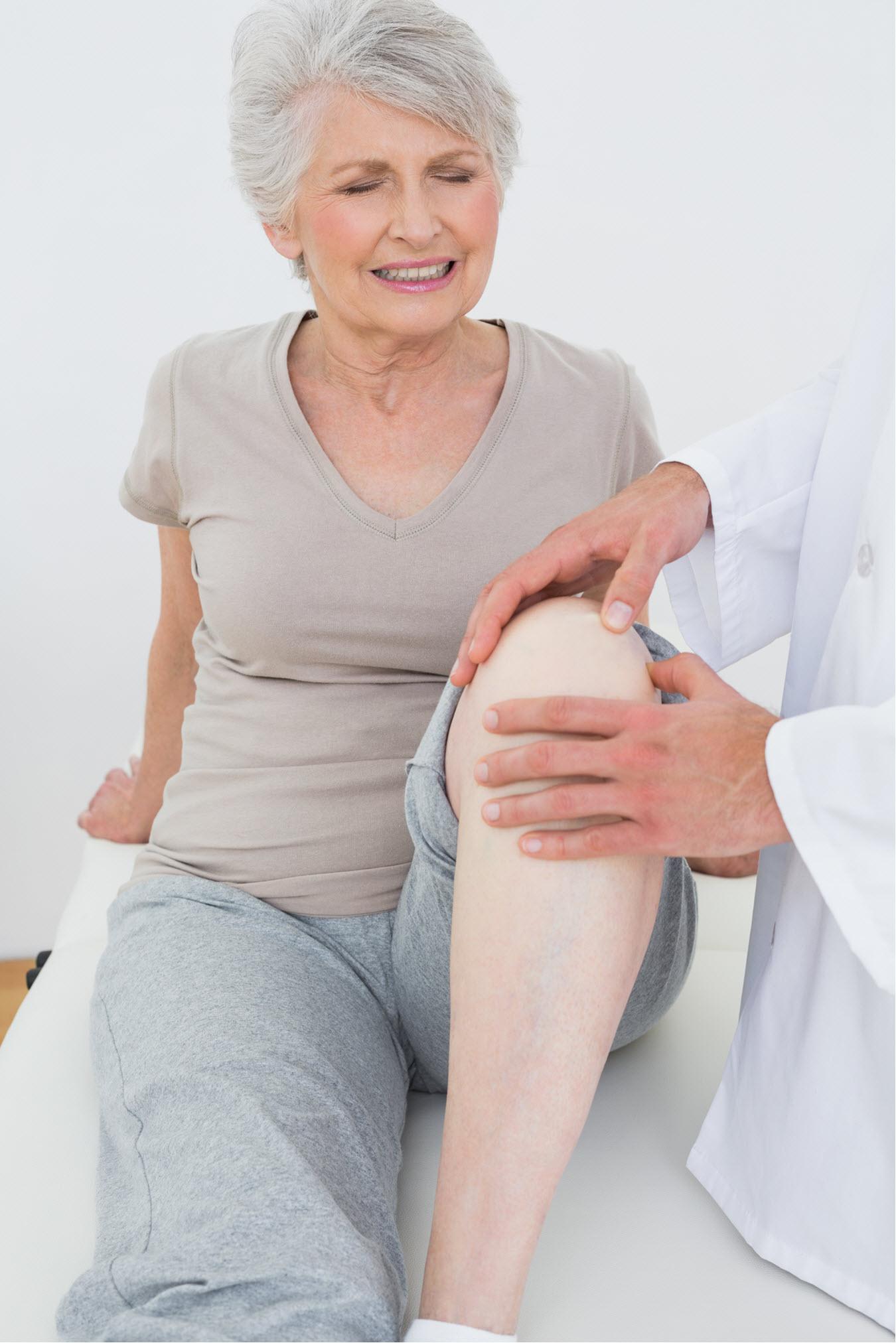 Knee Pain Mature Woman